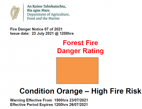 Fire Danger Notice 06 of 2021 Issue date:  16 July 2021 @ 1500hrs
